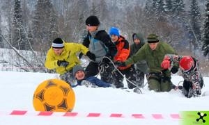 Домбайский футбол на Снежинке'2013